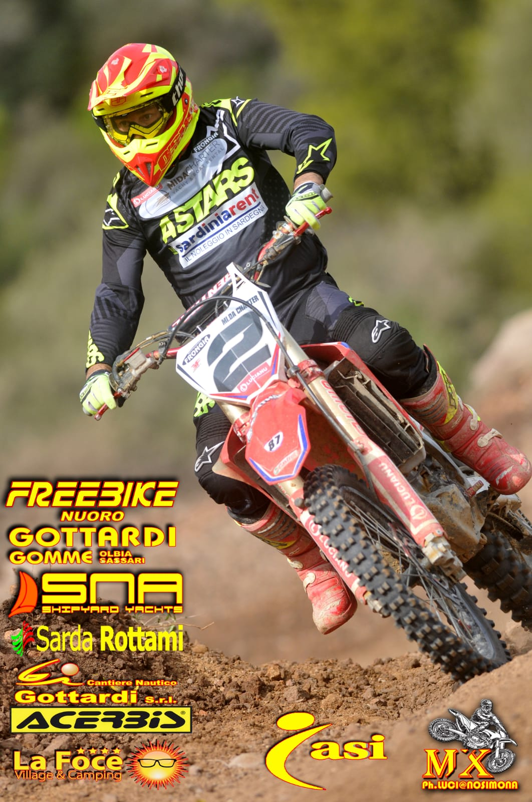 "Classifica e Recensione 8^ Gara di Campionato Motocross ""Dorgali"""