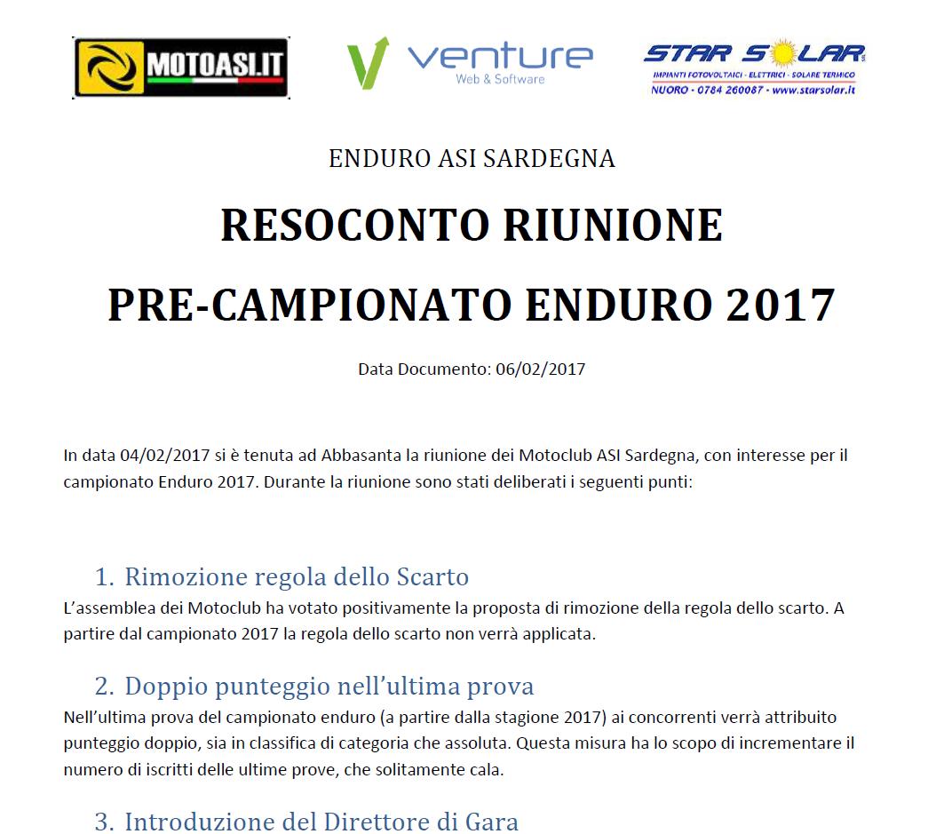 Anteprima file resoconto riunione Enduro 2017