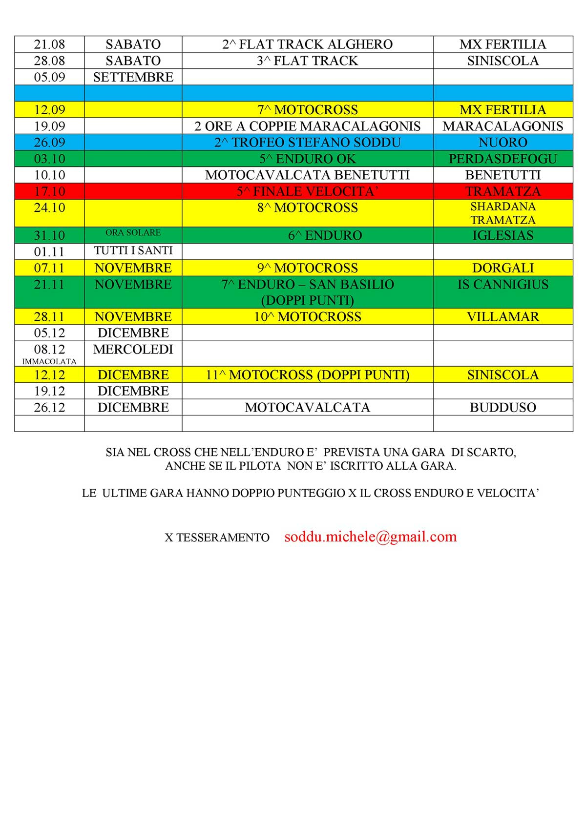 Calendario eventi MSP Sardegna 2021 pag 2