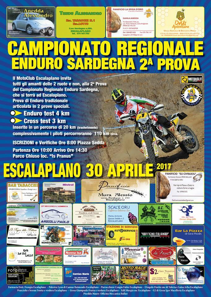 Locandina Gara Enduro ASI Escalaplano 2017