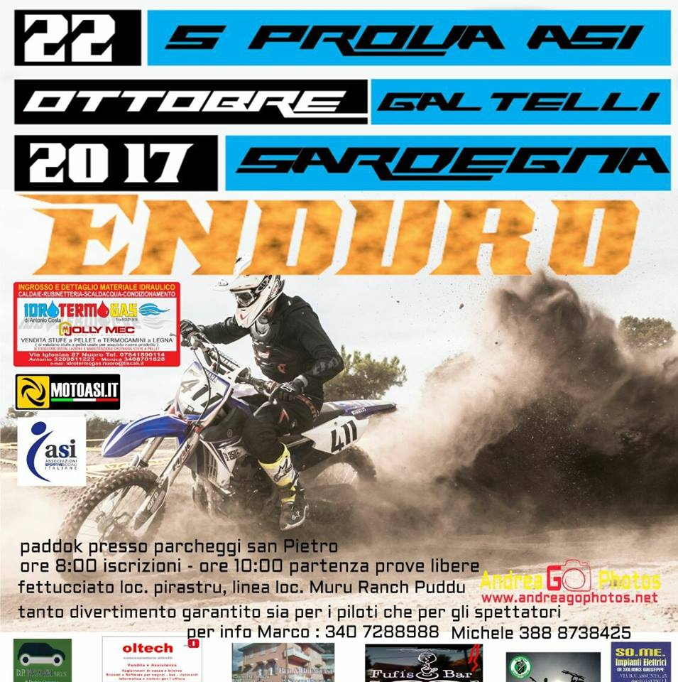Locandina Gara Enduro ASI Galtellì 2017